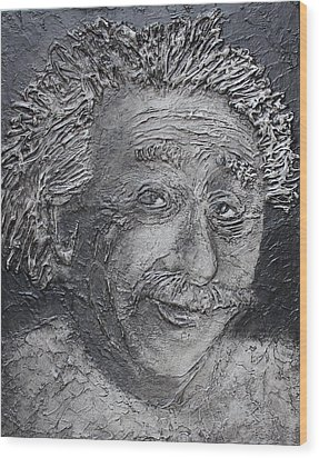Wilder Einstein Wood Print by Steve  Hester