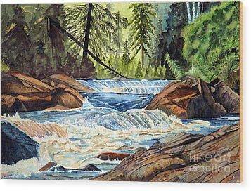 Wilderness River I Wood Print