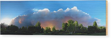Wildfire Coming Wood Print by Ric Soulen