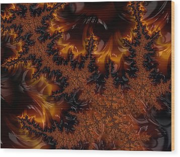 Wood Print featuring the digital art Wildfire by Owlspook