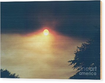 Wood Print featuring the photograph Wildfire Smoky Sky by Kerri Mortenson