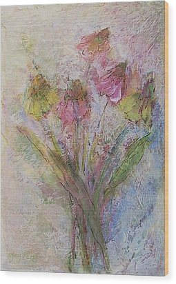 Wood Print featuring the painting Wildflowers 2 by Mary Wolf