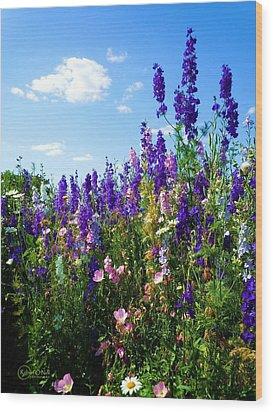 Wildflowers #9 Wood Print