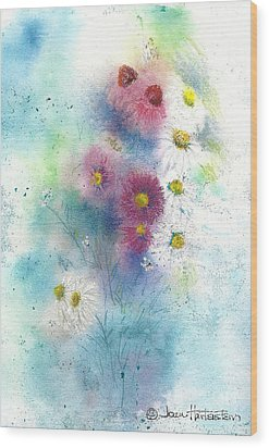 Wildflowers Wood Print