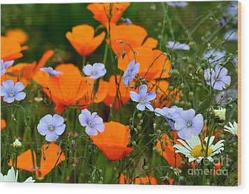 Wood Print featuring the photograph Gabriella's Flowers by Lisa L Silva