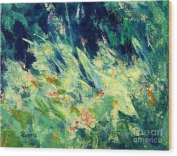Wood Print featuring the painting Wildflowers by Mary Lynne Powers