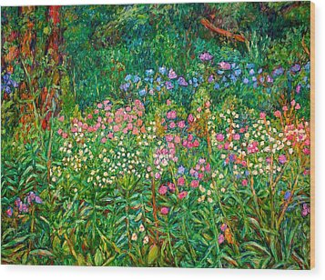 Wood Print featuring the painting Wildflowers Near Fancy Gap by Kendall Kessler