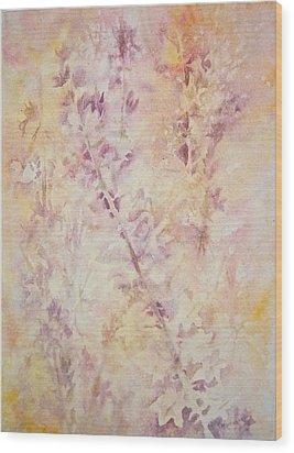 Wildflowers Three Wood Print by Carolyn Rosenberger