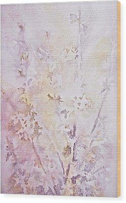 Wildflowers Two Wood Print by Carolyn Rosenberger
