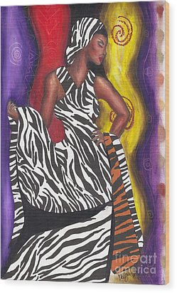 Wood Print featuring the mixed media Wildly Sophisticated by Alga Washington