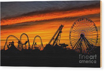 Wildwood At Dawn Wood Print by Mark Miller
