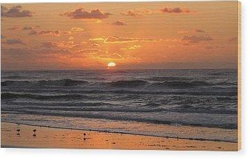 Wildwood Beach Here Comes The Sun Wood Print