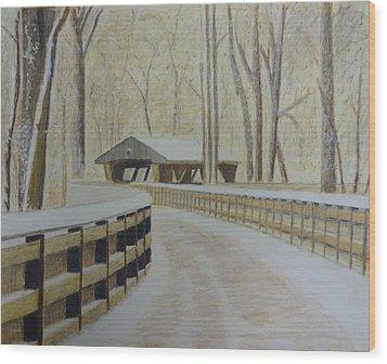 Wildwood Bridge Wood Print by Samuel McMullen