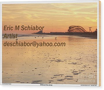 Wildwood Sunset Wood Print by Eric  Schiabor