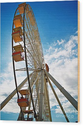 Wildwood's Wheel Wood Print by Mark Miller