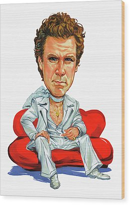 Will Ferrell Wood Print by Art
