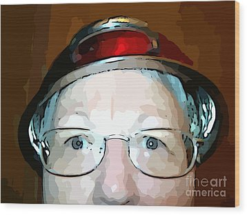 Will The Red Hat Society Accept Me? Wood Print by MJ Olsen