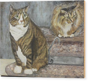 William And Charles Wood Print by Maureen Pisano