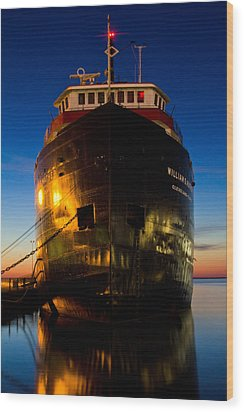 William G. Mather Maritime Museum Cleveland Ohio Wood Print by John McGraw