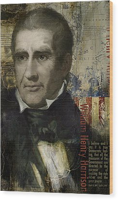 William Henry Harrison Wood Print by Corporate Art Task Force