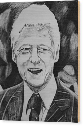 William Jefferson Clinton Wood Print by Jeremy Moore