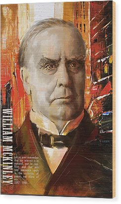 William Mckinley Wood Print by Corporate Art Task Force