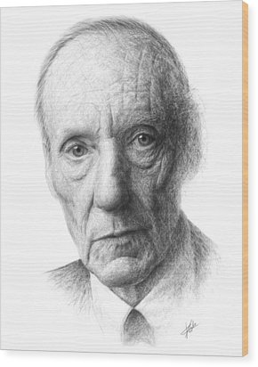 William S. Burroughs Wood Print