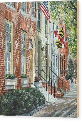 William Street Summer Wood Print by John Schuller
