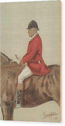 William Ward Tailby Wood Print by Sir Samuel Luke Fildes