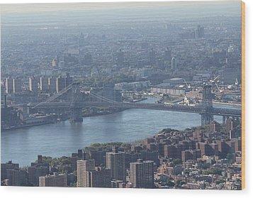 Wood Print featuring the photograph Williamsburg Bridge by David Grant
