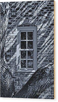 Wood Print featuring the photograph Williamsburg Window by Nigel Fletcher-Jones