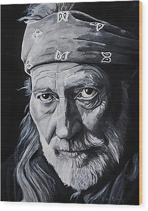Willie  Wood Print by Brian Broadway