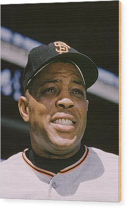 Willie Mays Close-up Wood Print by Retro Images Archive