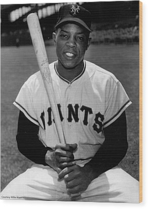 Willie Mays Wood Print by Gianfranco Weiss