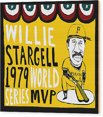 Willie Stargell Pittsburgh Pirates Wood Print by Jay Perkins