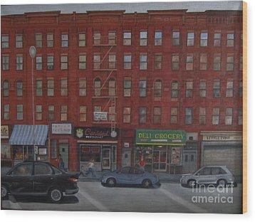 Willis Avenue Tenements Wood Print by Karen Olson