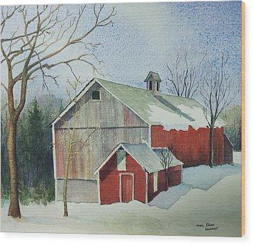 Williston Barn Wood Print by Mary Ellen Mueller Legault