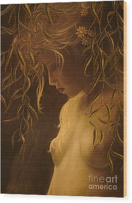 Willow Girl Wood Print by John Silver