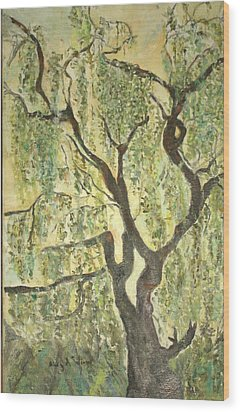 Willow Tree Wood Print