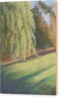 Willow Way Wood Print by Melinda Saminski