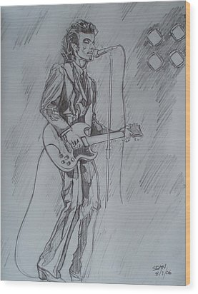 Mink Deville - Steady Drivin' Man Wood Print by Sean Connolly