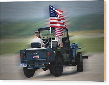Willy Jeep From The 32nd Air Defense Wood Print by Thomas Woolworth