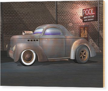 Willys Street Rod Wood Print