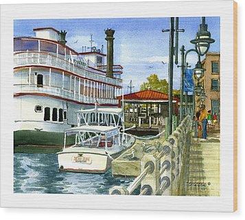 Wilmington Dock Wood Print