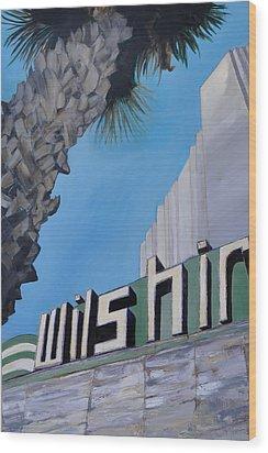 Wilshire Wood Print