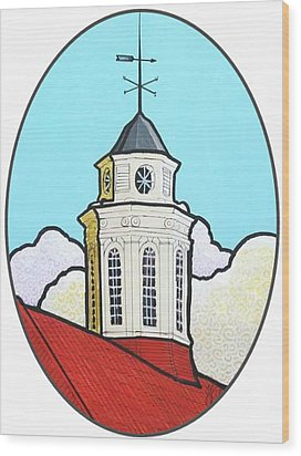 Wilson Hall Cupola - Jmu Wood Print by Jim Harris
