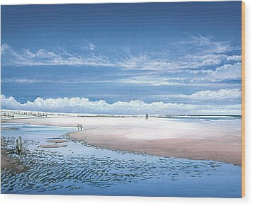 Winchelsea Beach Wood Print by Steve Crisp