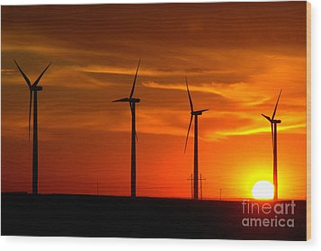 Wood Print featuring the photograph Wind And Solar 1 by Jim McCain