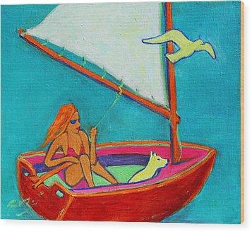 Wind Beneath My Wings I Wood Print by Xueling Zou