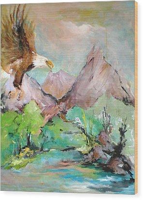 Wind Beneath My Wings Wood Print by Mary Spyridon Thompson